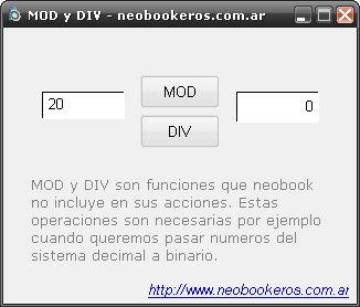 MOD y DIV