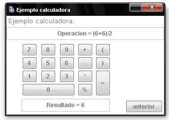 Screen ejemplo calculadora