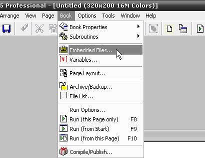 Embedded files en el menu