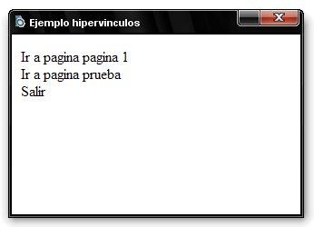 Screen ejemplo hipervinculos