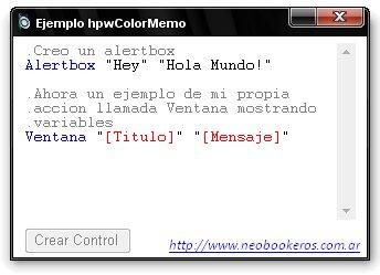 Screen ejemplo hpwColorMemo