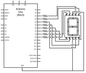 arduino-7-segment-LED-display-circuit